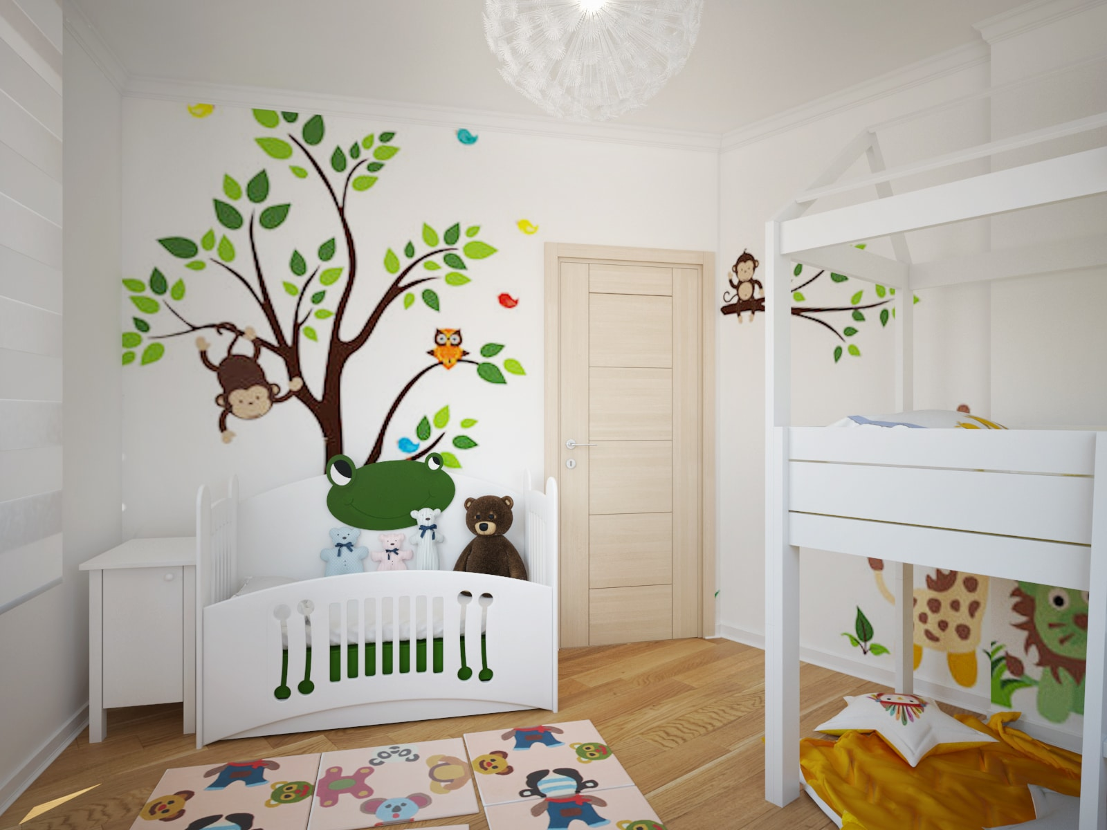 Childrens Room crib
