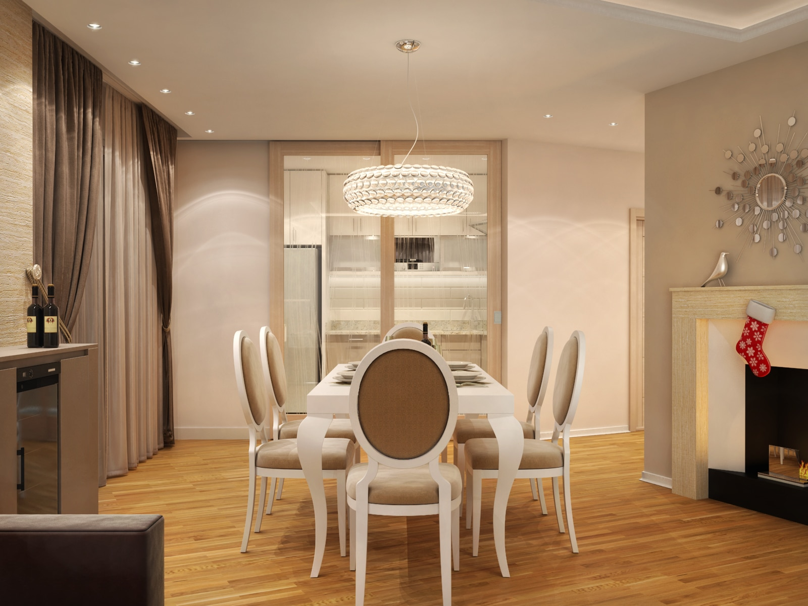 Private Apartment dining room